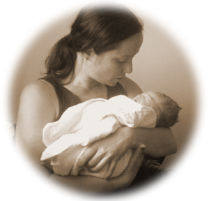 image of eleni holding newborn baby what is birth support doula what is it soft circle 400px
