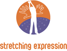Yoga for kids Logo stretching expression camp